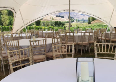 Carpri 11.5x8.5m with tables and chairs