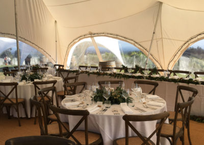 Carpri tent with head table