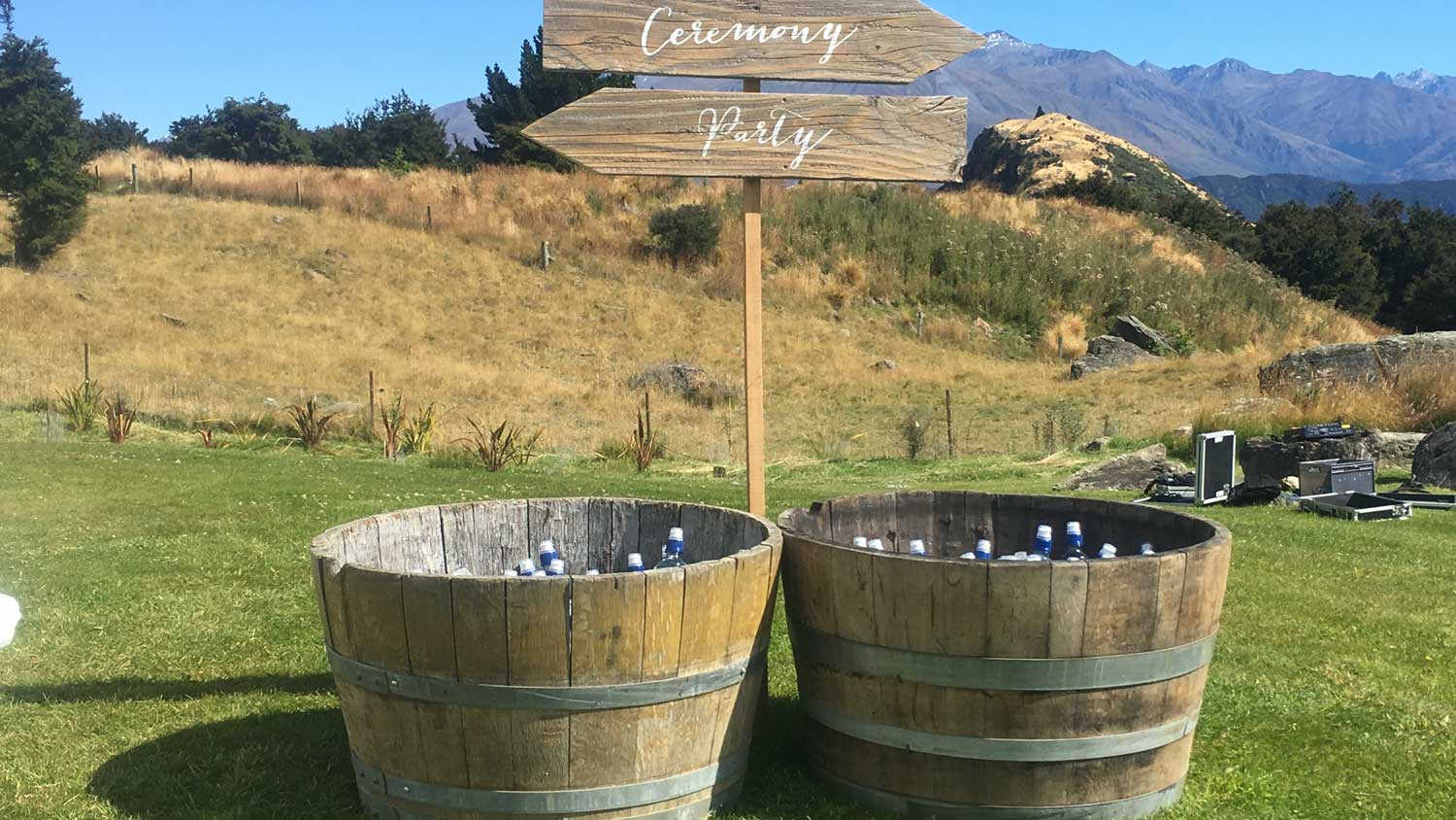 Wine Barrel Signs